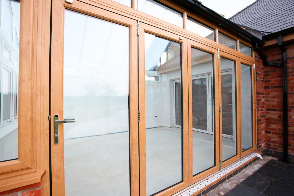 Wood Bi-Folding Door