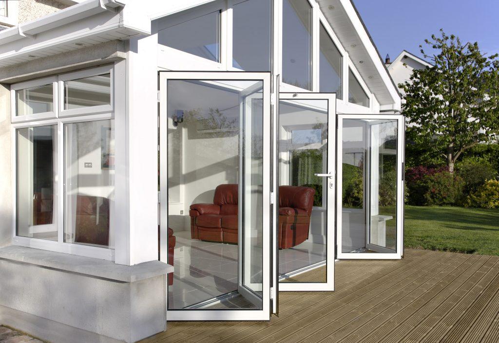 White Bi-Folding Door