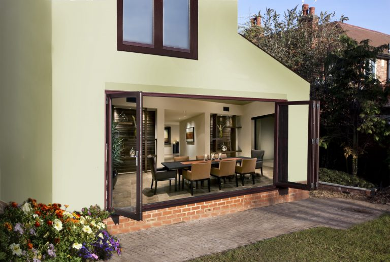 Brown Bi-Folding Doors