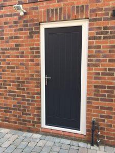 Black Composite Side Door